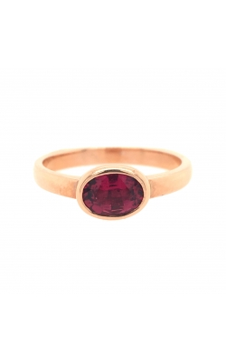 14k Rose Gold Pink Tourmaline Ring With East-West Setting G10430 product image