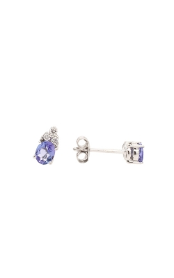 18k White Gold Tanzanite Stud Earrings product image