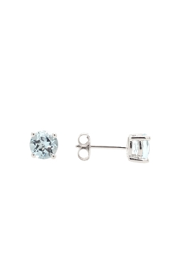 14k White Gold Aquamarine Stud Earrings G11161 product image