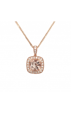 14k Rose Gold Morganite Pendant With Diamond Halo G11371 product image