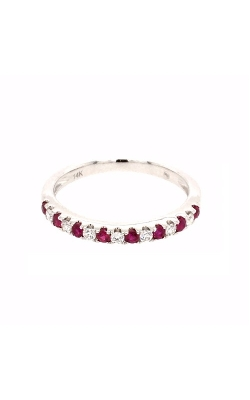 18k White Gold Ruby And Diamonds Band G12156 product image