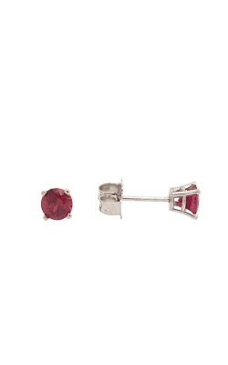 14k White Gold Ruby Stud Earrings G7643 product image