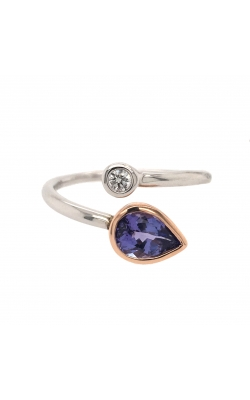 14k White And Rose Gold Tanzanite And Diamond Bypass Ring G7745 product image