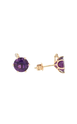14k Yellow Gold Amethyst Stud Earrings G8479 product image