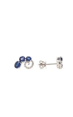 14k White Gold Sapphire Stud Earrings G8813 product image