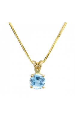 14k Yellow Gold Blue Topaz Pendant G9956 product image