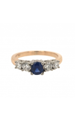 14k White And Yellow Gold Sapphire Ring With Side Diamonds C10396 product image