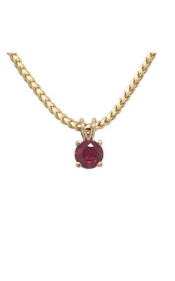 14k Yellow Gold Ruby Pendant C10439 product image