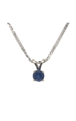 14k White Gold Sapphire Pendant C10443 product image
