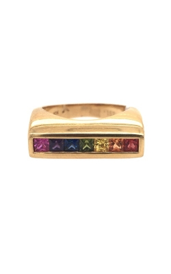 18k Yellow Gold Multi-Coloured Sapphire Ring G11986 product image