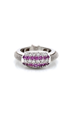 18k White Gold Pink Sapphire And Diamonds Ring C2390 product image