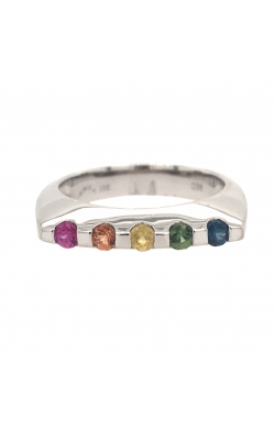 18k White Gold Multi-Coloured Sapphire Ring G11987 product image