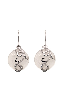 18k White Gold Crystal Drop Earrings C4875 product image