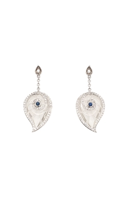 18k White Gold Sapphire Dangle Earrings C5769 product image