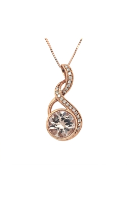 14k Rose Gold Morganite Pendant With Diamond Accents C6675 product image