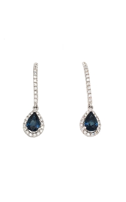 18k White Gold Sapphire Dangle Earrings C8332 product image