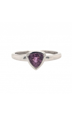 14k White Gold Pink Sapphire Ring C8573 product image