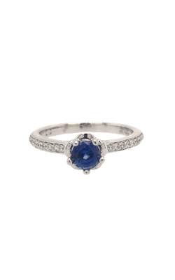 18k White Gold Sapphire Ring With Side Diamonds C8912 product image