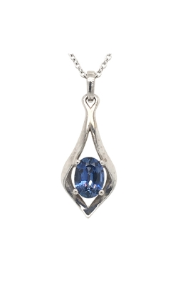 14k White Gold Sapphire Pendant C8936 product image