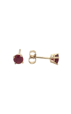 14k Yellow Gold Ruby Stud Earrings C9085 product image