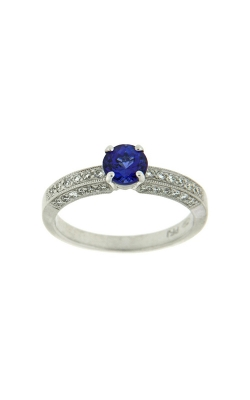 18k White Gold Tanzanite Ring With Side Diamonds PQ102-TZ-WG product image