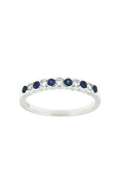 18k White Gold Sapphire And Diamonds Band G9399 product image