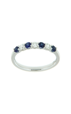 18k White Gold Sapphire And Diamonds Band G9764 product image