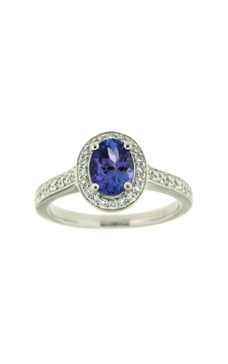 18k White Gold Tanzanite Ring With Halo And Side Diamonds PQ221-TZ-WG product image