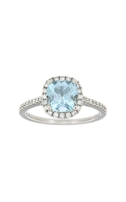 18k White Gold Aquamarine Ring With Halo And Side Diamonds PQ243A-AQ-WG product image
