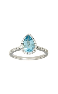 14k White Gold Aquamarine Ring With Halo And Side Diamonds PQ296-AQ-14K-WG product image