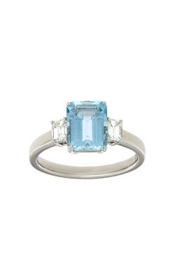 18k White Gold Three-Stone Aquamarine And Diamonds Ring PQ314-AQ-WG product image