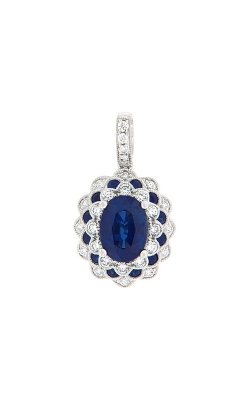 18k White Gold Sapphire And Diamond Pendant G10841 product image