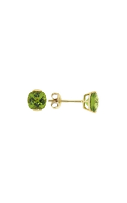 14k Yellow Gold Peridot Stud Earrings G0201 product image