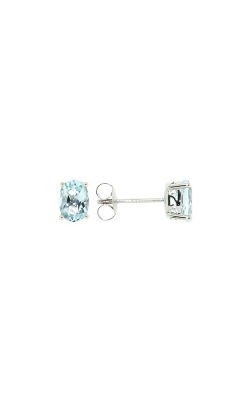 14k White Gold Aquamarine Stud Earrings product image