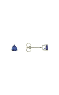 14k White Gold Tanzanite Stud Earrings product image
