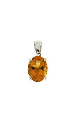 14k White Gold Citrine Pendant G11307 product image