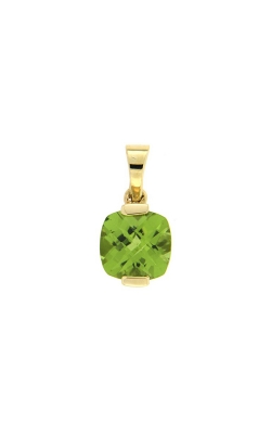 14k Yellow Gold Peridot Pendant G7128 product image