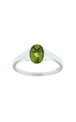 14k White Gold Peridot Ring SCR023-PEW product image