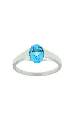 14k White Gold Blue Topaz Ring SCR023-TBW product image