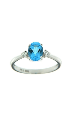 14k White Gold Blue Topaz Ring With Diamonds SCR024-TBW product image