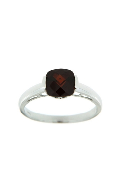 14k White Gold Garnet Ring SCR030-GRW product image