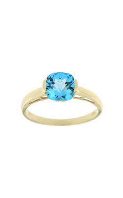14k Yellow Gold Blue Topaz Ring SCR030-TBY product image