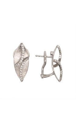 14k White Gold Diamond Dangle Earrings G0751 product image