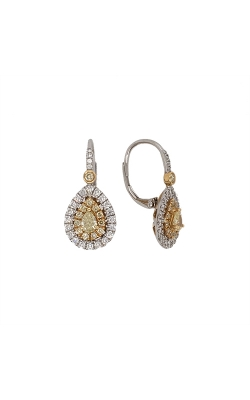 18k White And Yellow Gold Diamond Drop Earrings G10001 product image