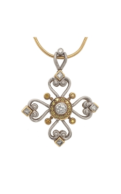 18k White And Yellow Gold Mahklouf Luxury Pendant With Yellow Diamonds G10275 product image