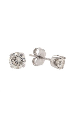 14k White Gold Diamond Stud Earrings G10434 product image