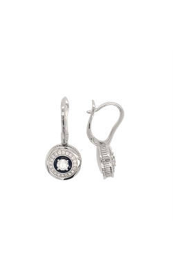 18k White Gold Diamonds And Enamel Dangle Earrings G10435 product image