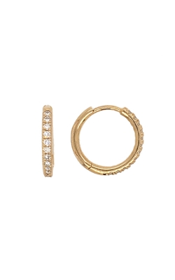 14k Yellow Gold Diamond Hoop Earrings G10906 product image