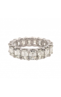 Platinum Emerald-Shaped Diamond Eternity Band G11162 product image