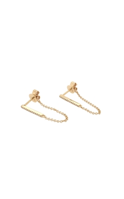 14k Yellow Gold Diamond Drop Earrings G11164 product image